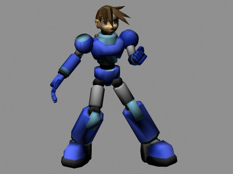 megaman legends 3d model