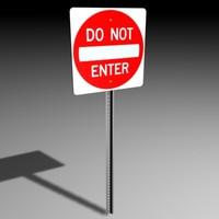 3d model enter sign