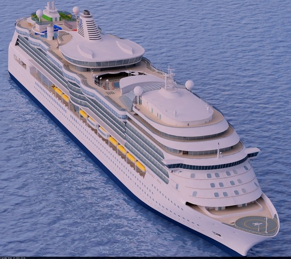 3d model of cruise ship radiance seas