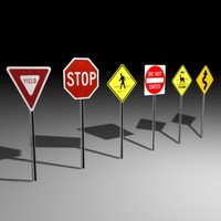 3ds max sign stop yield