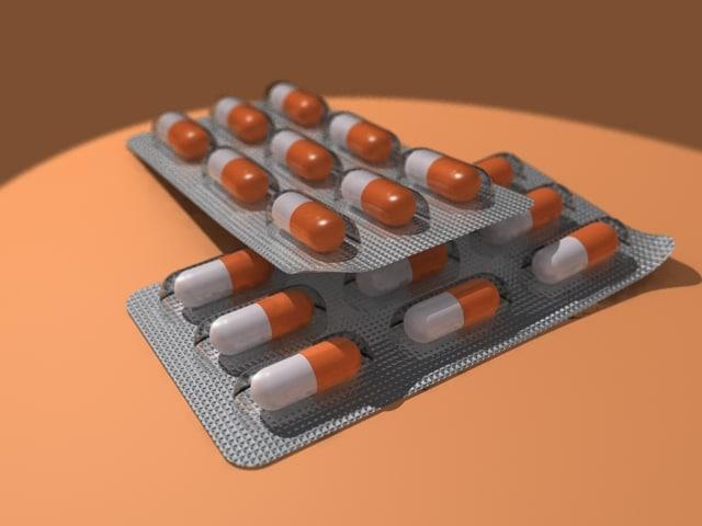 free medical drugs 3d model