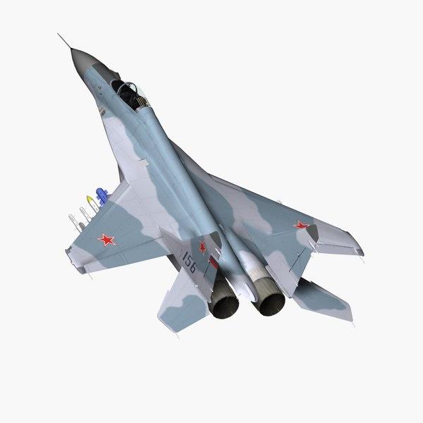 3d mig-29m fighter jet model