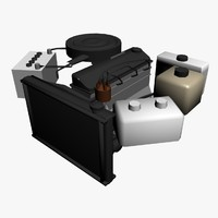 engine 4-cilinder auto 3d model