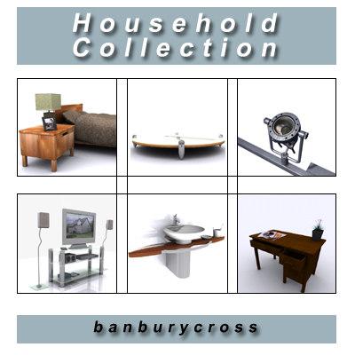 3d household bed lamp model