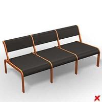 3d model chair waiting