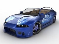 Mitsubishi Eclipse Wide Blue