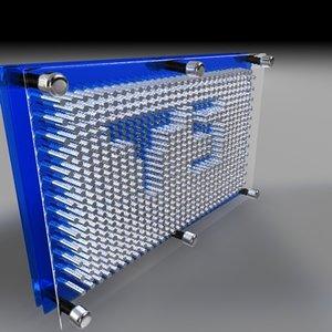 3d model pin