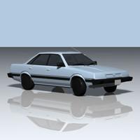 3ds max 1992 sedan car