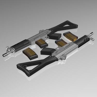 5 56 mm smg 3d model