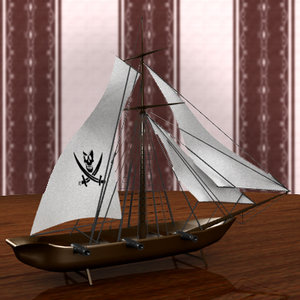 3d model toy pirate ship