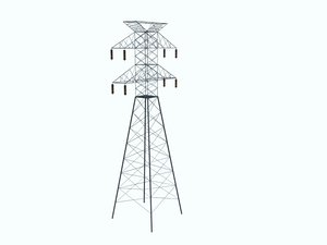 3d model of tension power tower