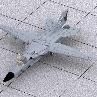 3d general dynamics f-111 model