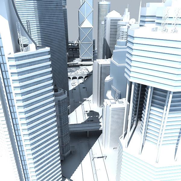 skyscrapers street 3d model