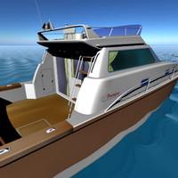 3d yacht motorboat model