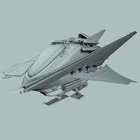 3d model of ship sci fi