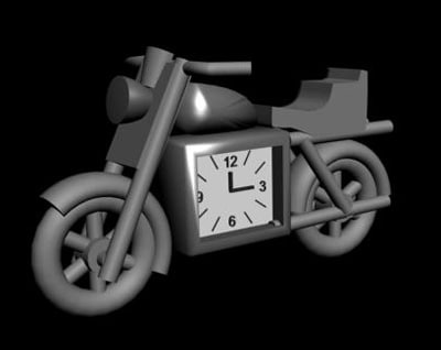 3d motorcycle clock
