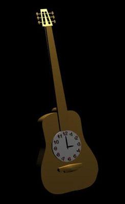 free guitar clock 3d model