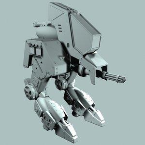 maya sci fi walker