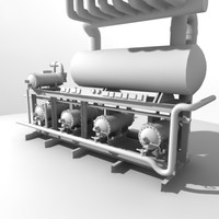3d industrial air compressors