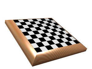 free chess board 3d model