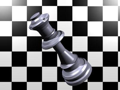 free chess queen 3d model