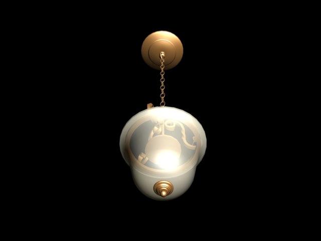 3d hanging chandelier light