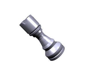 chess rook piece 3ds