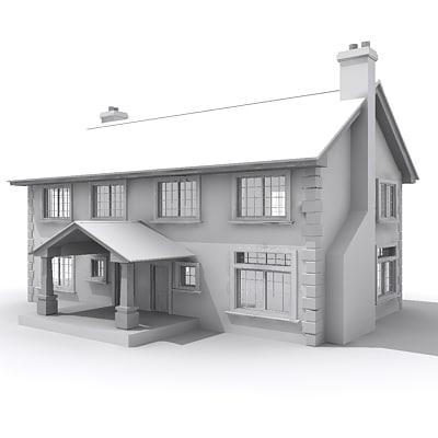 building residential 3d model