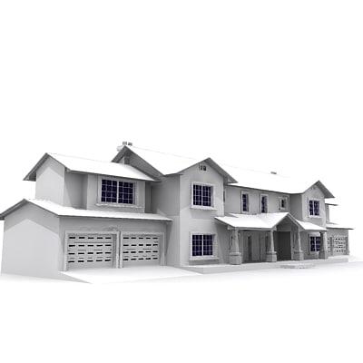 3d building residential model
