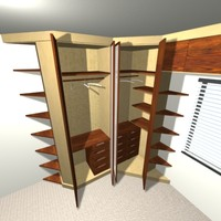 furniture closet 3d max
