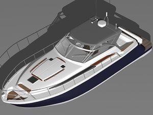 3d chris craft roamer boat model