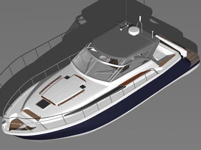3d chris craft roamer boat model