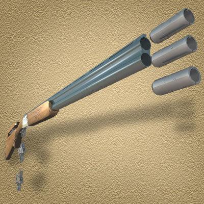 3d model perazzi shotgun