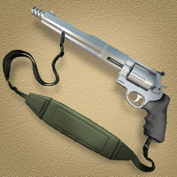 smith wesson magnum 0 3d model