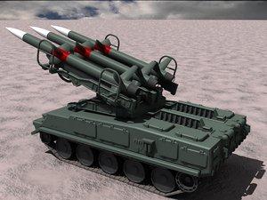 russian sa-6 launcher 3d model