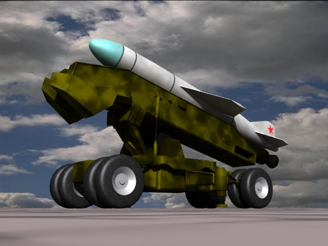 russian cssc-3 seersucker missiles 3d model