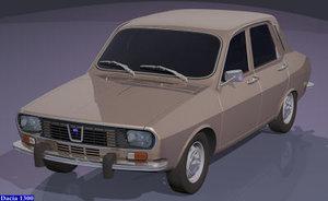 3d dacia 1300 renault 12 model