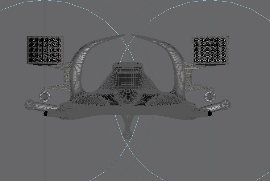 free gmax space ship 3d model