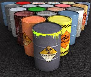 3ds max barrels contains