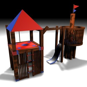 3d model outdoor play structure