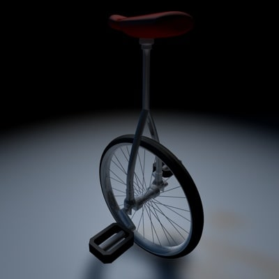 3d unicycle wheel