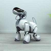 sony aibo robot obj