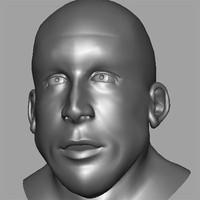 3d model human head