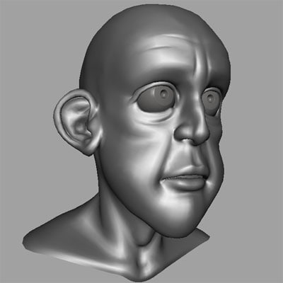goblin head modeled 3d model