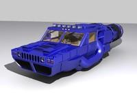 3d humvee space racer