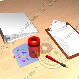 3d model stationery paperclip holder