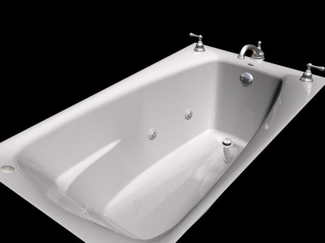 jacuzzi tub 3d max