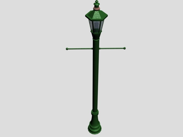 3d outdoor street lamp post model