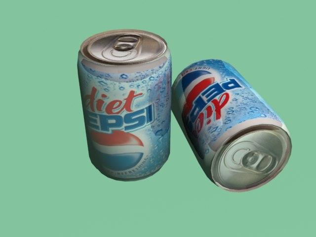 3d model pepsi cans