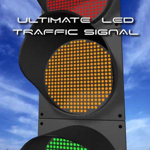 led traffic lights 3d 3ds